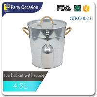 Ice Bucket with Scoop and Lid