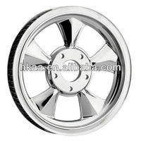 motorcycle wheel pulley,aluminum/chrome ISO pulley