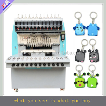 labor saving ! 2017 automatic modish rubber keychain making/dispensing machines for sale