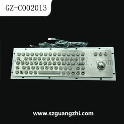 ESD industrial metal kiosk keyboards for government use GZ-C002013