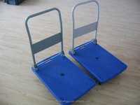 Loading 150KG plastic folding four wheel platform hand truck PH1511P
