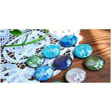 customized decor China glass crystal fridge magnet puzzle