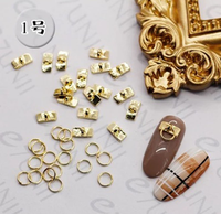 Gold sliver cute japanese style mini pig snout metal alloy with rings nail art charms nail art decoration