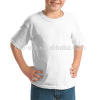 Free Samples China Wholesale Blank T shirts Kids T shirt 180g 100% Ringspun Cotton Round Neck Plain White T shirt