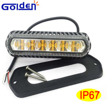 Screw mount 6 led truck pilot ambulance emergency strobe warning grille lights