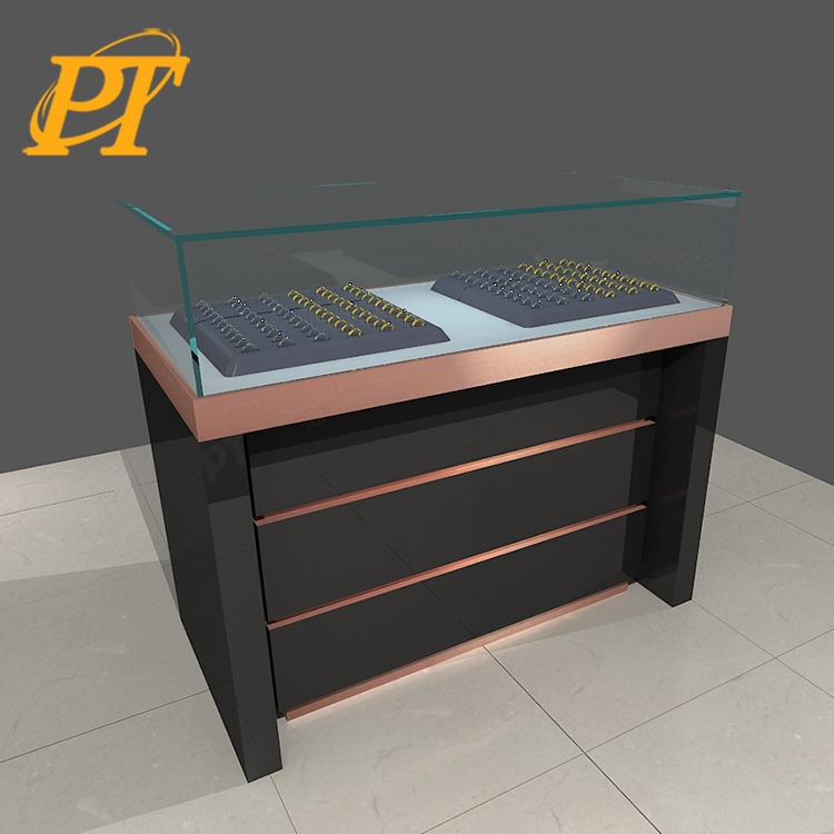 Retail store jewelry display case showcase display cabinet