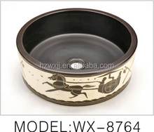 Chinese Products Art Color Ceramic Basin Bathroom Vanity Basin,Bathroom Sink
