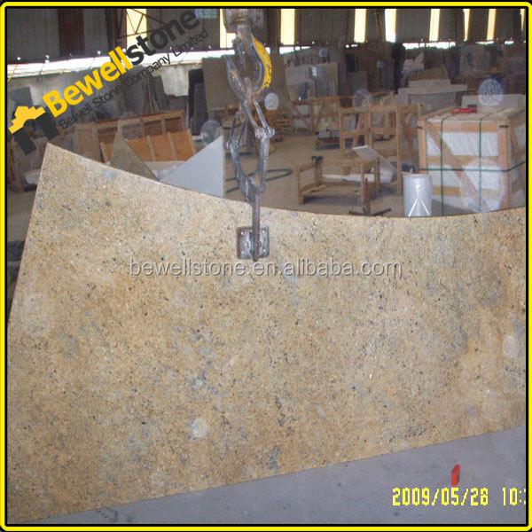 "78"" polished custom made santa ceclia granite stone snack bar top"