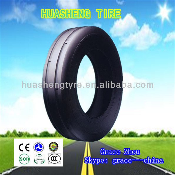 Hot sale Bias rubber tires used for agricultural machinery Tractor Steer tyres 6.50-20 F-2 pattern Huasheng brand tire factory