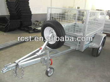 6*4 hot-dipped galvanized box trailer, cage trailer, utility trailer