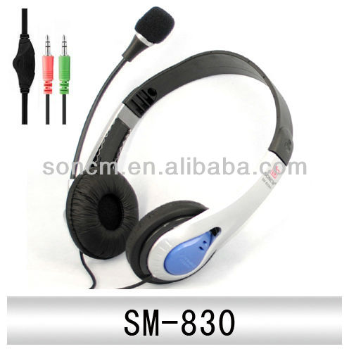 children headset microphone covers for computer(SM-830)