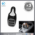 Hot Sale High Speed Cell USB Phone Car Charger 5V 2.4A 3 USB Ports Car Adapter Charger