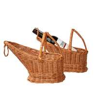 Wicker Gift Basket use for Wine bottles storage/decorate