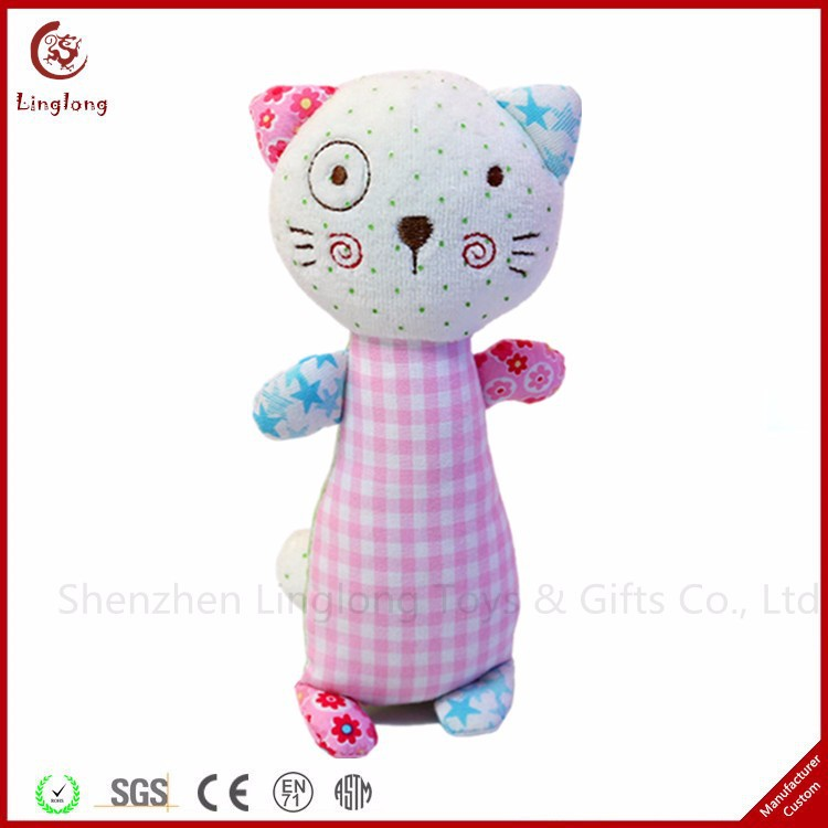 New design plush kitten with long body stuffed cartoon doll supple animal throw pillow