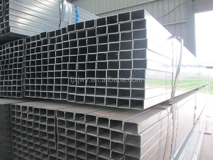 Hot selling 75mm gi square steel tube en10219 shs square hollow section galv. pipe with low price