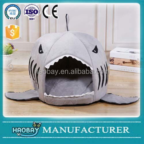 Lovely Shark Design Puppy Dogs Kennel Soft Warm Cave beds Pet House