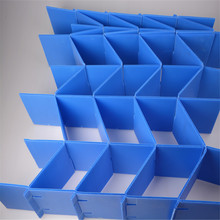 blue flexible corrugated plastic material for packing and logistics in China
