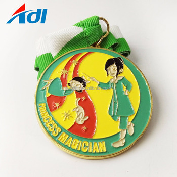 Custom colorful to make zinc alloy soft enamel carnival medal for kids