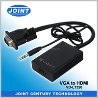 Best Selling VGA to HDMI Cable Converter with Audio for Full HD 1080P HDTV