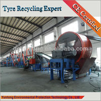 waste tyre shredding and recycling plant