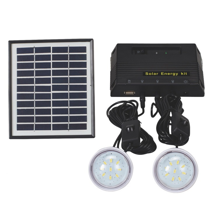 Cheaper Price 4w Solar Power System Home With Moible Charger Wire