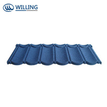 Environment Friendly Flat Stone Coated metal Roof Tiles Bond terracotta Metal Roof Tile