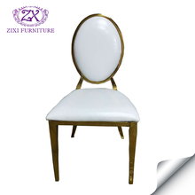 Modern design white round back metal chair for dining room