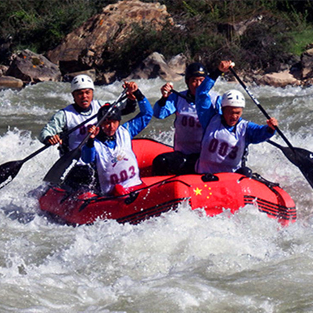 365 inflatable boat 6 person river raft manufacture for yushu world cup rafting