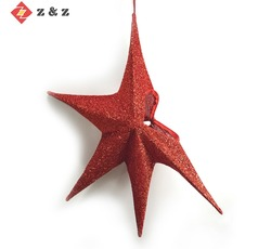 2018 NEW DESIGN FOLDABLE SHINNING CHRISTMAS STAR AND FESTIVAL DECORATION