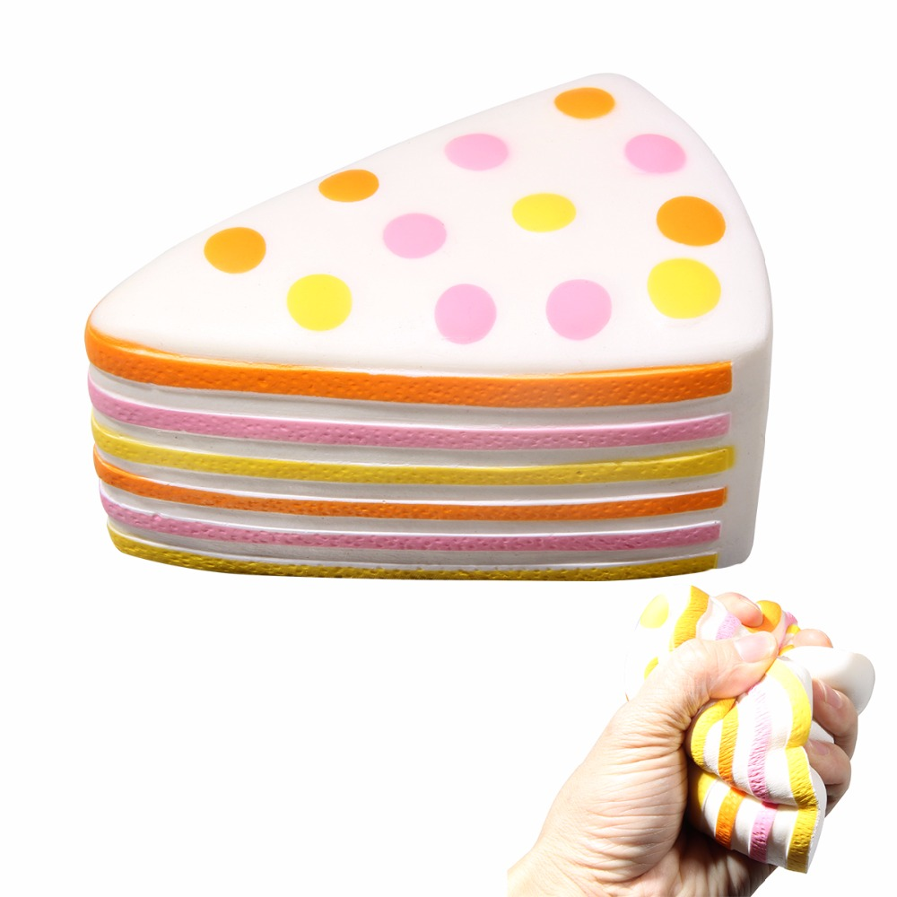 Slow Rising Squishy Cake Toy Jumbo 147*80mm Sandwich Shaped Cake for Kids