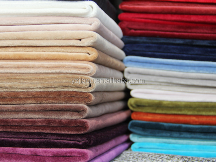 high quality one side brushed super poly brushed colorful tricot <strong>fabric</strong>