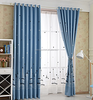 Fancy Embroidery blackout Curtain Track And Blackout Roller Blinds For Windows
