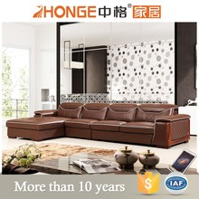 leather corner l-shape modern sofa furniture funiture home / hotel
