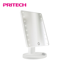 PRITECH New Fashion Convenient Smart Touch Table Stand Led Cosmetic Mirror With Lighting