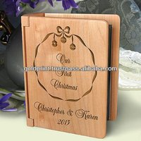 "Wooden Photo Album to store 100 4"" x 6"" photos"