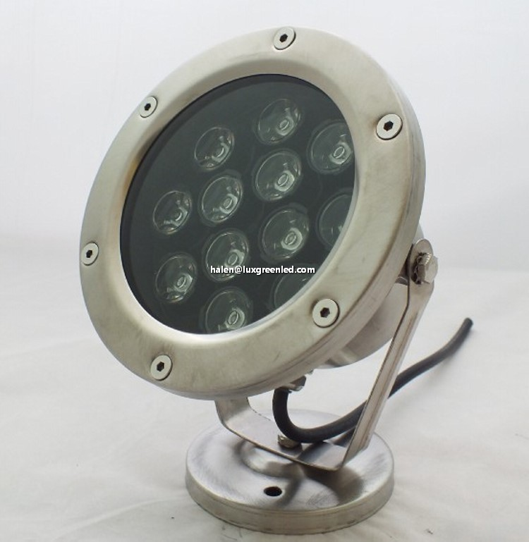 12/24V dc 24Watts 4R 4G 4B Led underwater Pool light with 3 years warranty