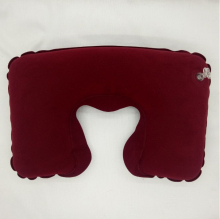 High Quality Soft Inflatable Vibrating Travel Neck Chocolate U Pillow