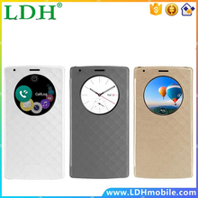 For LG G4 H810 With Quick Smart Circle Flip Case Cover High Quality G4 phone Case Support NFC and LED Lighting Auto Sleep /Awake