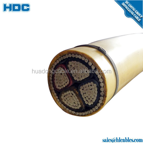 AL PVC insulation PVC sheath 4x150mm2 Aluminium power cable