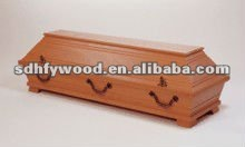 German baby wooden coffin with handle