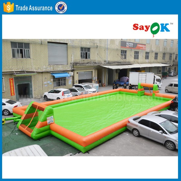 inflatable water football court beach inflatable soap football pitch