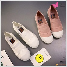 Top selling FREE SAMPLE Summer Spring canvas womens slip on shoes