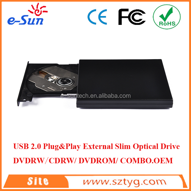 Hot selling External USB2.0 DVD with SATA Interface mini laptop with dvd drive/dvd burner/dvd drive DVDRW/CDRW/DVDROM/COMBO