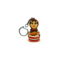 custom plastic promotional russion doll keychain