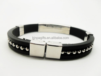 Custom Wristband Hand Band For Men Metal Bracelet With Buckle