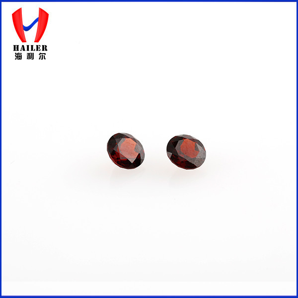 natural 4mm round shape brilliant cut garnet