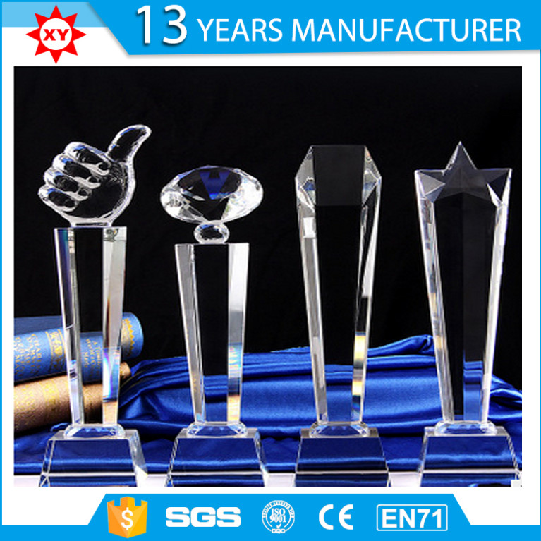 Wholesale Custom Star Shape Crystal Trophy Award