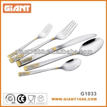 Elegant Design Stainless Steel Cutlery in Mirror, Sand or Gold Polish
