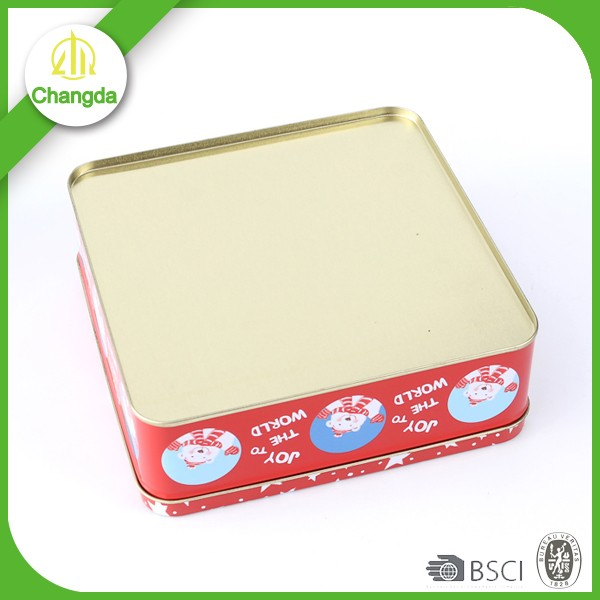 Tin box with PET/PVC window for cellophane window gift packaging of christmas gift tinbox