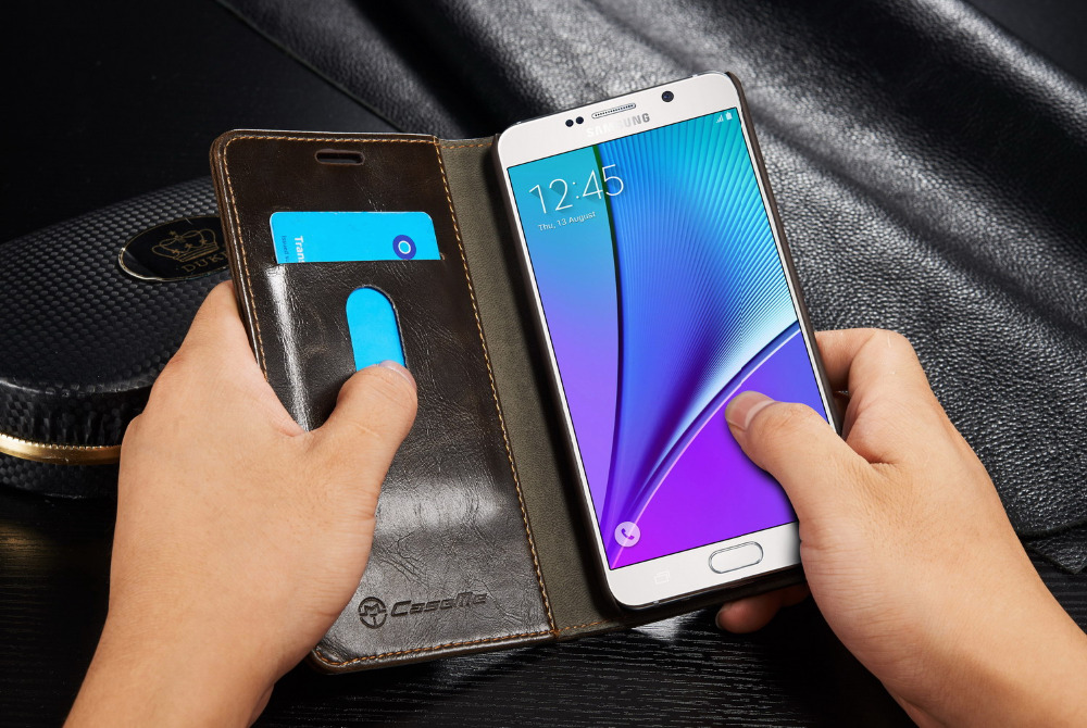 CaseMe Multi-functional PU Leather Wallet Case With Card Holder Cover For Samsung Note 4/Note 5/S4/S5/S5 Mini PCM-003-14